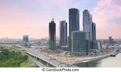 MIBC (Moscow-City) during sunset