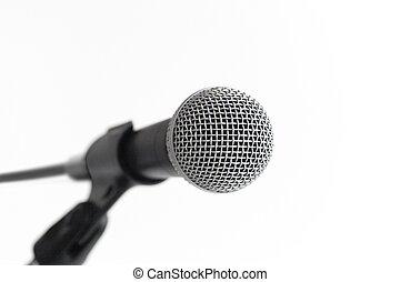 mic , ανοίγω