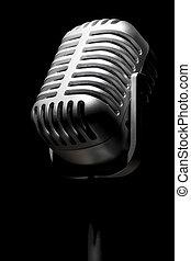 mic, レトロ, スポットライト