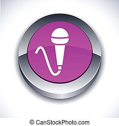 Mic 3d button.