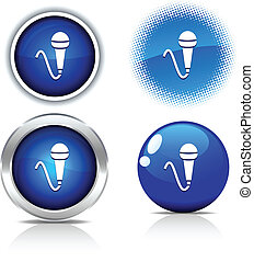 Mic buttons. - . Mic beautiful buttons. Vector illustration....