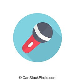 mic  flat color icon