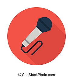 mic flat icon