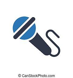 mic  glyph color icon