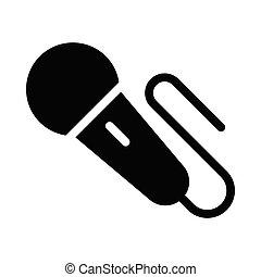 mic glyph flat icon