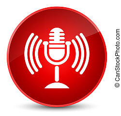 Mic icon elegant red round button