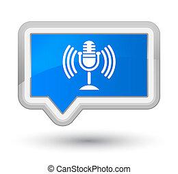 Mic icon prime cyan blue banner button