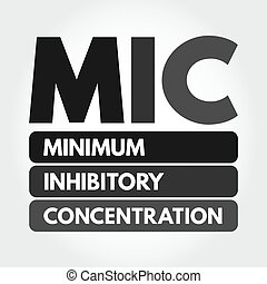 MIC - Minimum Inhibitory Concentration acronym, medical ...