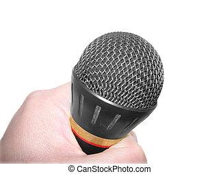 mic over white