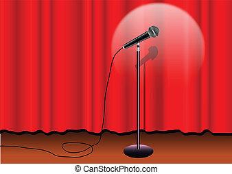 mic, palcoscenico
