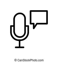 mic thin line icon