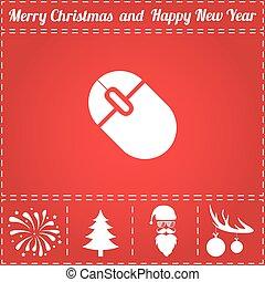 Mice Icon Vector. And bonus symbol for New Year - Santa...