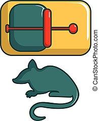 Mice trap icon, cartoon style - Mice trap icon. Cartoon...
