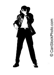 An illustration of a Michael Jackson like dancer dances to his limits