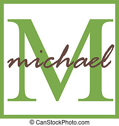 Michael Name Monogram - Name Monogram
