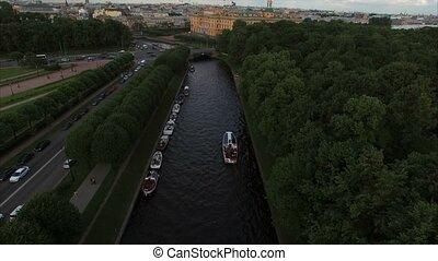 Michaels castle in Saint-Petersburg aerial shot