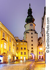Michal Tower (Michalska Brana), Bratislava, Slovakia....