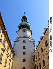 Michal Tower (Michalska Brana), Bratislava, Historic City Gate.