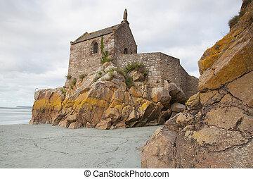 michel, 修道院, フランス, 潮, mont, 低い, 聖者