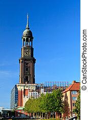 Michel church in Hamburg, Germany