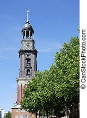 Michel church in Hamburg (Germany)