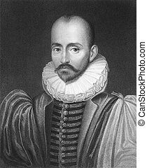 Michel de Montaigne (1533-1592) on engraving from the 1800s....