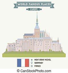 michel., mont, normandía, santo, francia