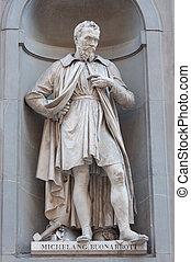 michelangelo, buonaroti, estatua