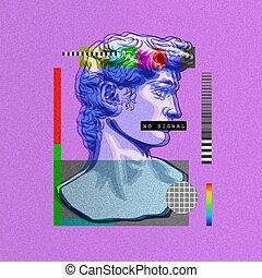 michelangelo., david, obra maestra, abstractionism, busto, ...