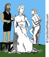 michelangelo, escultura, david