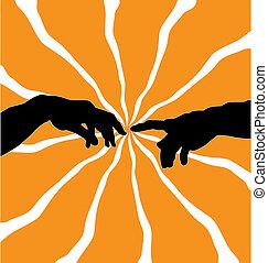 michelangelo illustration - famous michelangelo motive on...