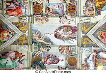 Michelangelo's masterpiece: Sistine Chapel ceiling with ...