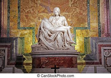 Michelangelo's Pieta - ROME, ITALY - MARCH 07: Pieta by...