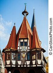 Michelstadt, Hessen, Germany - Old town hall of Michelstadt,...