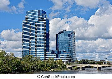 michigan , μεγαλειώδης , ουρανοξύστης , καταρράκτης