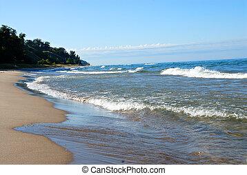 michigan , παραλία , λίμνη