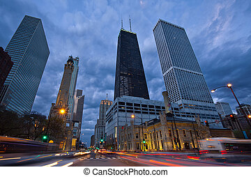 Michigan Avenue in Chicago.