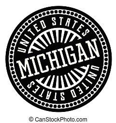 Michigan black and white badge