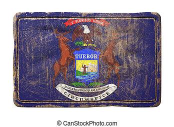 michigan, drapeau état, vieux
