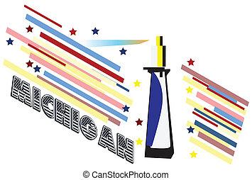michigan, estado, bandera