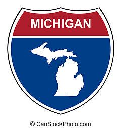 Michigan interstate highway shield - Michigan American...