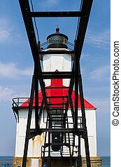 Michigan Lighthouse and Catwalk
