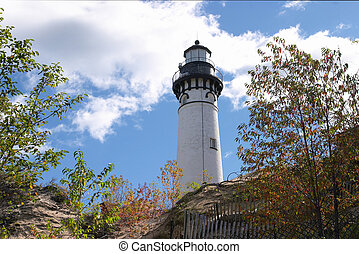 Michigan Lighthouse - Au Sable Light Station in Michigans\'s...
