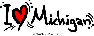 Michigan love - Creative design of michigan love