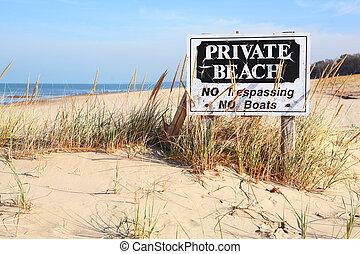 michigan, praia, privado