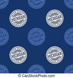 Michigan seamless pattern. Seamless badge pattern, backdrop...