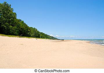 michigan, shoreline, tó