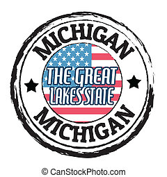 Michigan, The Great Lakes State stamp