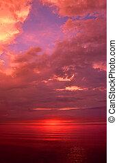 Michigan Upper Peninsula Sunset - Incredible sunset over...