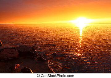 Michigan Vacation Beach Sunset